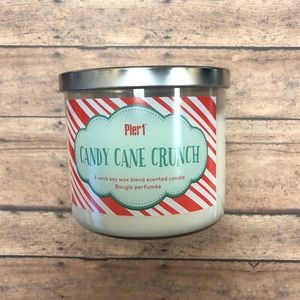 Pier 1 Candy Cane Crunch Scented Jar Candle New